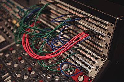 Audio cables connected to mixing console - p1315m1229709 by Wavebreak