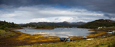 Boats Mooring In The Harbour; Kenmore Highlands Scotland - p442m748688f by John Short