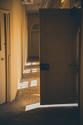 Open door at corridor - p301m1102009f by Lilly Husbands