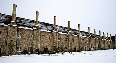 St. Cross Hospital in the snow; Winchester, Hampshire, England - p442m961614 by Chris Caldicott