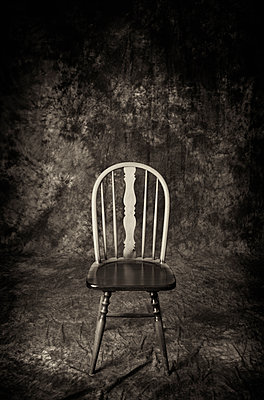 Antique wooden chair still life Stylish furniture - p609m1473058 by WRIGHT