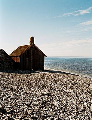 Boathouse in the Faroe Islands - p972m1136675 by Magnus MoeŽrding