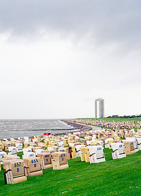 Panoramic view from the beach in Büsum - p2686844 by Matthias Schmiedel