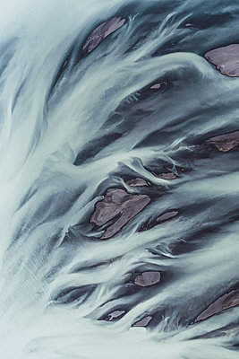 Glacial river as seen from above - p1634m2210329 by Dani Guindo