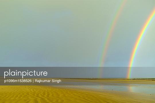 Double rainbow at the seashore  - p1096m1538526 by Rajkumar Singh