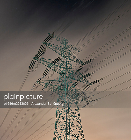Pylon at night - p1696m2293036 by Alexander Schönberg