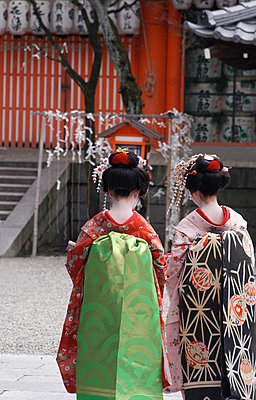 Geishas; Kyoto, Japan - p442m839973 by Mark Thomas