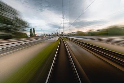 Long exposure of railway tracks - p623m2151649 by Pablo Camacho