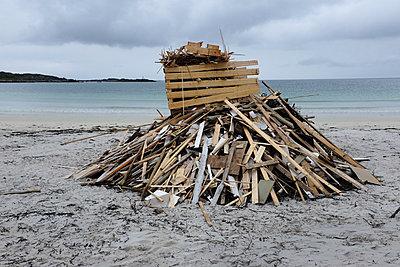 Brennholz am Strand - p236m1332815 von tranquillium