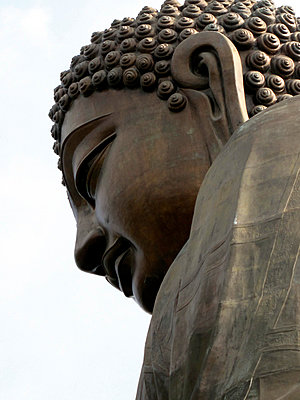 The Big Buddha statue in the Po Lin Monastery, Lantau Island, Hong Kong - p301m799860f by Cait