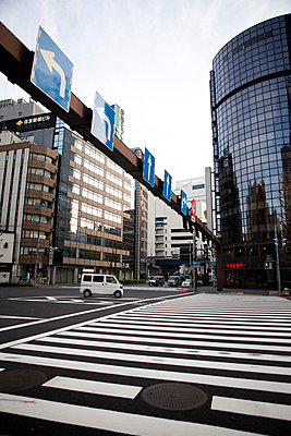 Cityscape and Pedestrian Crossing - p669m806379 by Kelly Davidson