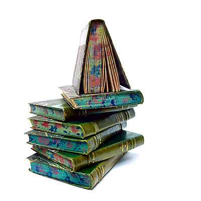 Pile of ancient books - p813m924517 by B.Jaubert