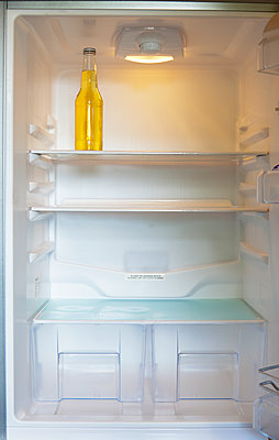 Bottle in a Refrigerator - p1100m2090787 by Mint Images