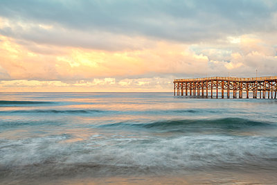 Mission Beach, Crystal Pier - p1436m1496830 by Joseph S. Giacalone