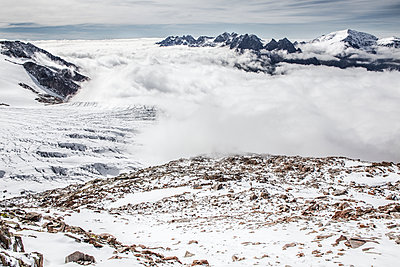 Cloud cover over valley - p327m1216598 by René Reichelt