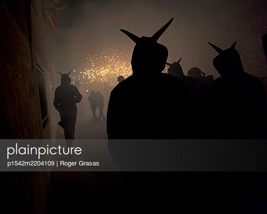 Devils fireworks celebration - p1542m2204109 by Roger Grasas