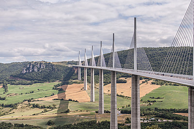 The Millau Viaduct  - p1402m2005790 by Jerome Paressant
