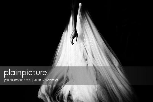 Woman in elegant dress - p1616m2187755 by Just - Schmidt
