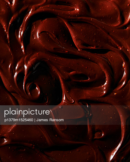 melted chocolate textures - p1379m1525460 by James Ransom