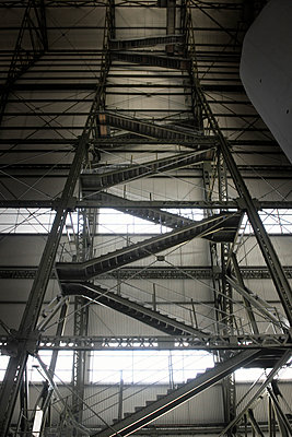 Cardington Airship Hangar Staircase - p1048m1123587 by Mark Wagner