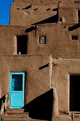 Traditional pueblos - p4451033 by Marie Docher