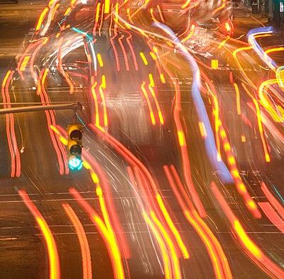 Blurred motion view of cars - p5690222 by Jeff Spielman