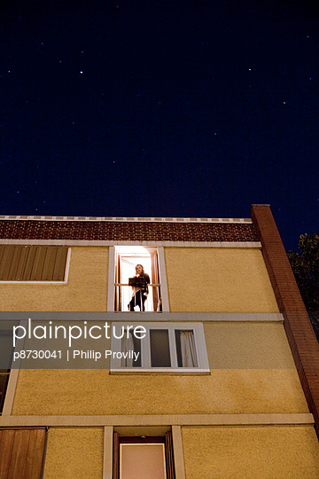 Woman at the window - p8730041 by Philip Provily