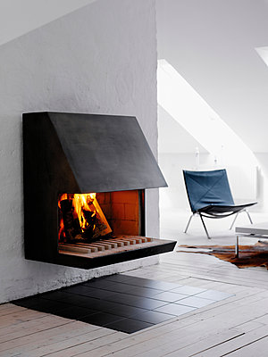 A fireplace. - p31215557f by Mikael Dubois