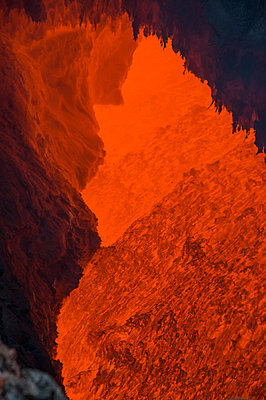 Active magma in a stream below the Tolbachik volcano, Kamchatka, Russia - p300m2103797 by Michael Runkel