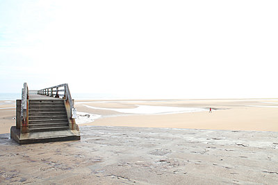Pier in Omaha Beach - p1289m2026360 by Elisabeth Blanchet