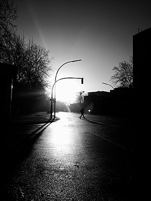 Pedestrian early in the morning - p551m1585020 by Kai Peters