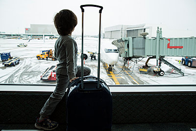Waiting at the Airport - p535m1108445 by Michelle Gibson