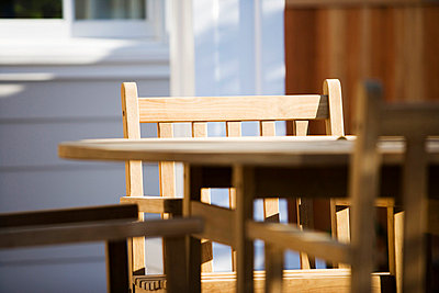 Wood Patio Furniture - p5551046f by LOOK Photography