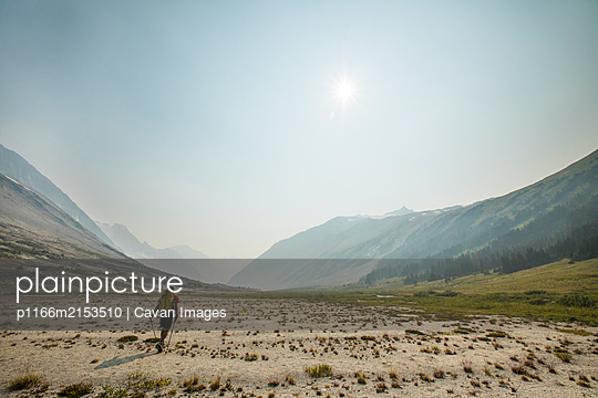 Backpacking in Athelney Pass, British Columbia, Canada - p1166m2153510 by Cavan Images