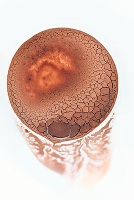 Cocoa mug sediment abstract - p1048m1519290 by Mark Wagner