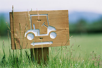 Golf cart sign - p6230374f by Laurence Mouton