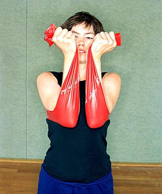 Gymnastikübung - p7810033 von Angela Franke
