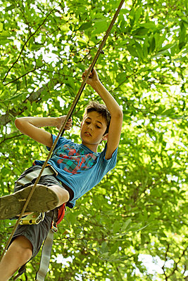 Ropes course - p445m1051410 by Marie Docher