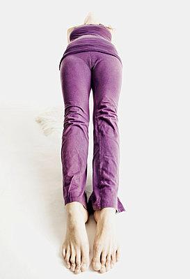 Woman Doing Yoga Pose, Full Wheel - p6940089 by Alberto Guglielmi