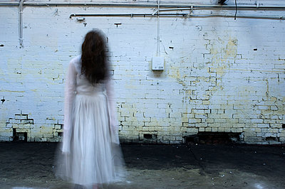 Ghostly figure - p1072m905532 by Mia Mala McDonald