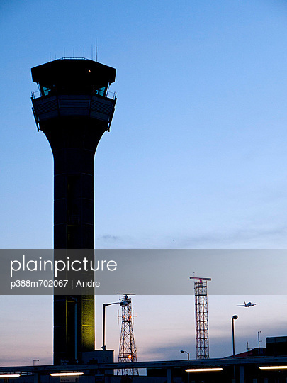 Control tower of airport - p388m702067 by Andre