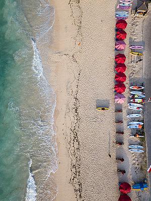 Indonesia, Bali, Aerial view of Pandawa beach - p300m2042452 von Konstantin Trubavin