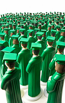 Students in green graduation robes - p3940218 by Stephen Webster