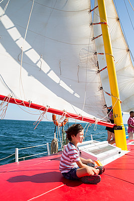 Sailboat - p535m2093557 by Michelle Gibson