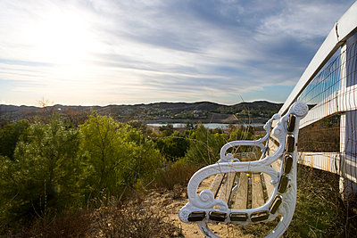 Bench with Scenic View - p5551096f by LOOK Photography