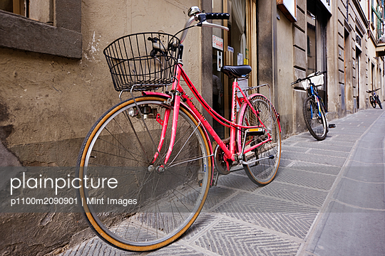 Bicycles Parked in the Street - p1100m2090901 by Mint Images
