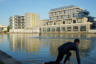 FRANCE - SURFING IN THE CANAL DE L OURCQ - p1610m2186038 by myriam tirler