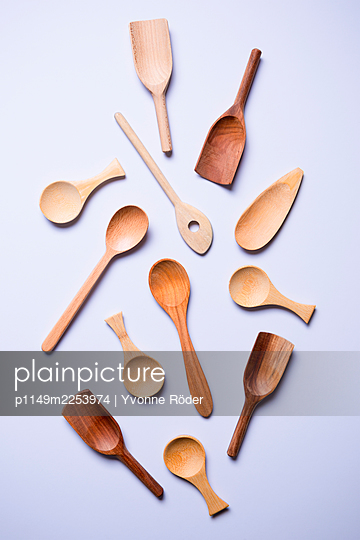 Wooden spoons - p1149m2253974 by Yvonne Röder