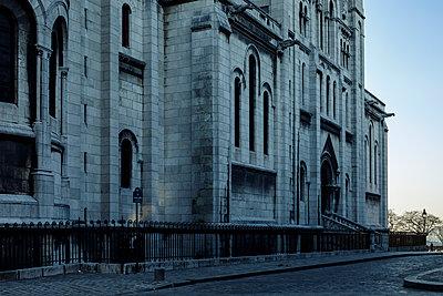 Church, Montmartre, Paris, France, shutdown due to Covid-19 - p1329m2177973 by T. Béhuret