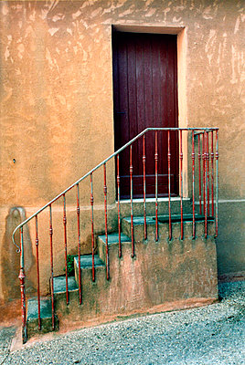 Steps and Door - p1072m828797 by Alison Morton